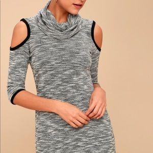 Black & White Cold Shoulder Dress